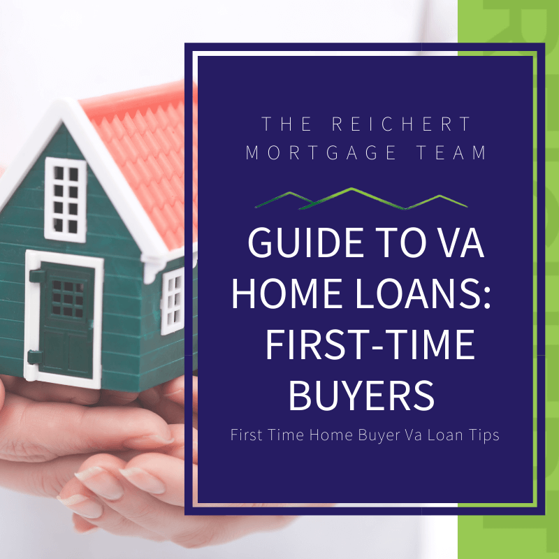 house in background with words Guide to VA home loans: First-time Buyers
